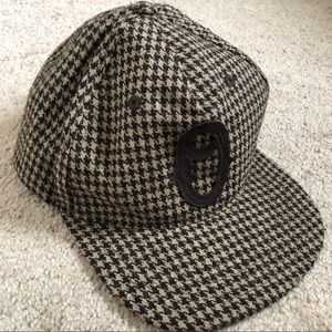 OBEY Wool Brown Mini Houndstooth Snapback Hat